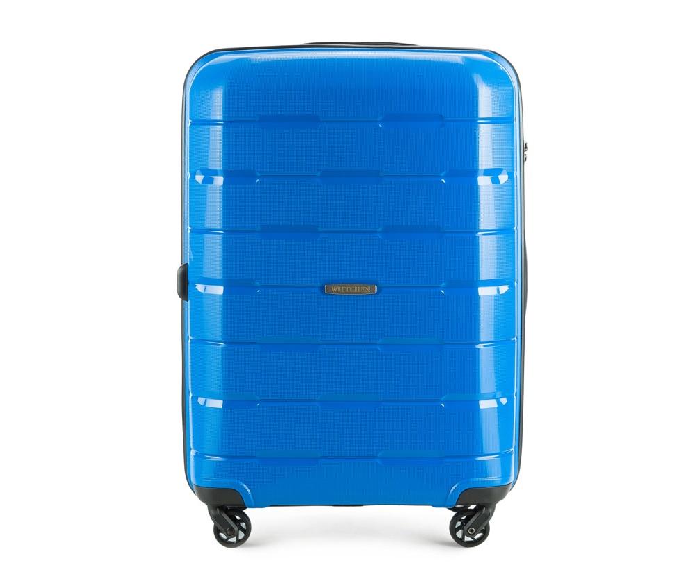 Чемодан на колесиках 24 дюймаСредний чемодан из коллекции Speedster из полипропилена. Имеет четыре колесика, облегчающие управление, телескопическую алюминиевую и  2 дополнительные прорезиненные  ручки.  Привлекательный дизайн и функциональность чемодана понравится каждому любителю путешествий. Дополнительно замоком TSA, который очень удобен и гарантирует безопасное открытие чемоданов и его повторное закрытие без повреждений замка сотрудниками таможни.   Особенности модели:  основное отделение с эластичными ремнями, предохраняющими одежду от перемещения;  отделение на молнии;  2 кармана на молнии, , 1 из которых карман - сетка.<br><br>секс: унисекс<br>Цвет: голубой<br>материал:: Полипропилен<br>подкладка:: полиэстер<br>высота (см):: 68<br>ширина (см):: 46<br>глубина (см):: 26<br>размер:: средний<br>объем (л):: 61<br>вес (кг):: 3,6