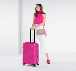 Medium suitcase, pink, 56-3A-312-34, Photo 1