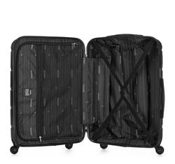 Średnia walizka z ABS-u w deseń, czarny, 56-3A-402-11, Zdjęcie 1
