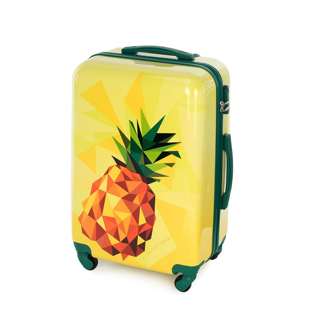 Medium suitcase, yellow, 56-3A-642-50, Photo 1