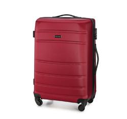 Średnia walizka z ABS-u żłobiona, czerwony, 56-3A-652-35, Zdjęcie 1
