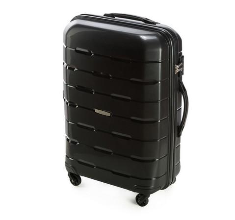 Czarna walizka z polipropylenu – kolekcja Speedster