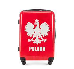 Medium suitcase, red-white, 56-3A-242-WR, Photo 1