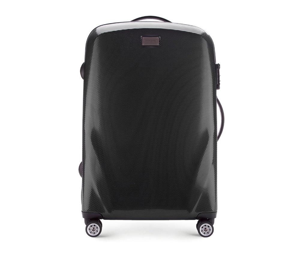 Чемодан на колёсиках 24\\Средний чемодан из коллекции PC Ultra Light сделан из ударопрочного поликарбоната, имеет 4 колесика сделанные из пластика ABS с термопластичным покрытием, трехступенчатая выдвижная ручка, резиновая ручка для ношения в руке, лицензионный кодовый замок TSA.     Особенности модели:   основное отделение с эластичными ремешками и застежкой-молнией; отделение на молнии; 2 кармана-сетки на молнии.<br><br>секс: унисекс<br>Цвет: черный<br>материал:: Поликарбонат<br>высота (см):: 68<br>ширина (см):: 46<br>глубина (см):: 23<br>вес (кг):: 3.2<br>объем (л):: 63