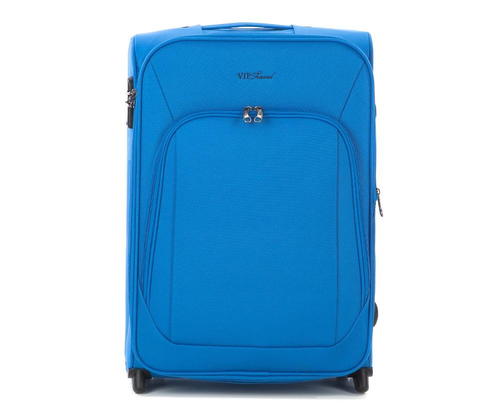 Чемодан текстильныйМаленький легкий чемодан из коллекции Sim Line, сделана из  высокопрочного полиэстера. Два прочных колеса позволяют легко перемещать  чемодан. Имеет телескопическую ручку с фиксатором и две дополнительные   боковые ручки, кодовый замок для надежной защиты вещей.&#13;<br>Особенности модели: &#13;<br>&#13;<br>&#13;<br>    основное отделение с эластичными ремешками  на молнии&#13;<br>    отделение на молнии.&#13;<br>&#13;<br>Снаружи:&#13;<br>&#13;<br>    отделение на молнии&#13;<br>    на тыльной стороне бирка с местом для информации о владельце.<br><br>секс: унисекс<br>Цвет: голубой<br>материал:: Полиэстер<br>подкладка:: полиэстер<br>высота (см):: 59<br>ширина (см):: 41<br>глубина (см):: 26<br>вес (кг):: 3.4<br>объем (л):: 54