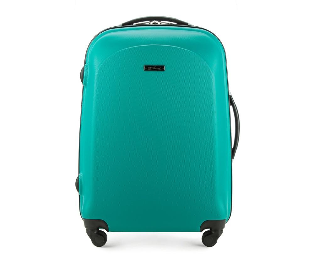 Чемодан  на колесиках  23\\Средний чемодан из коллекции VIP Ride 3, сделан из ударопрочного поликарбоната. Чемодан имеет 4 двойных колесика, двухступенчатую выдвижную алюминиевую ручку и две резиновые ручки: сверху и сбоку. Современный и оригинальный дизайн чемодана подчеркивает красная нить вплетенная в молнию. Чемодан имеет двойную молнию, функцию  \AntiTheft\, благодаря которой чемодан устойчив к нежелательному открытию острым предметом, кодовый замок с функцией TSA. Внутри: два отделения для одежды, один отдел фиксируется ремнями на застежку и второй закрывается на молнию; 2 сетчатых кармана на молнии.<br><br>секс: унисекс<br>Цвет: зеленый<br>материал:: ABS пластик<br>высота (см):: 67<br>ширина (см):: 43<br>глубина (см):: 26<br>размер:: средний<br>объем (л):: 55<br>вес (кг):: 3.2