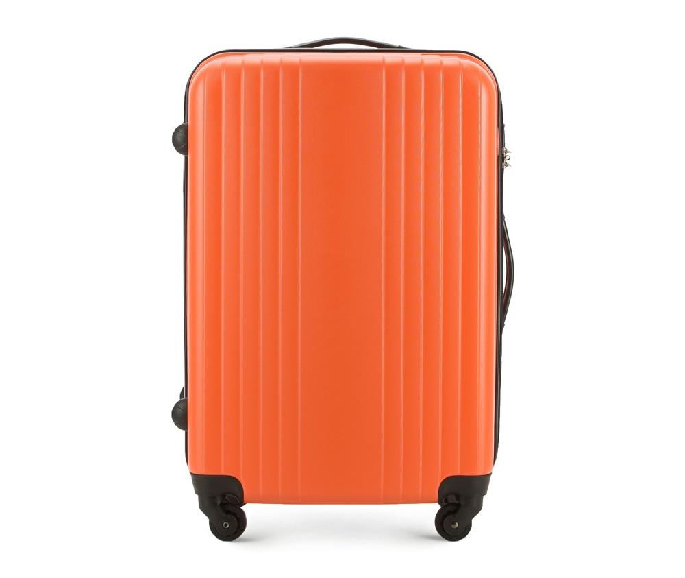 Чемодан на колесиках 23\\Средний чемодан из коллекции Hardy Line, сделан из ударопрочного поликарбоната. Чемодан имеет 4 двойных колесика, двухступенчатую выдвижную алюминиевую ручку и две резиновые ручки: сверху и сбоку. Современный и оригинальный дизайн чемодана подчеркивает красная нить вплетенная в молнию. Чемодан имеет двойную молнию, функцию  \AntiTheft\, благодаря которой чемодан устойчив к нежелательному открытию острым предметом, кодовый замок с функцией TSA. Внутри: два отделения для одежды, один отдел фиксируется ремнями на застежку и второй закрывается на молнию; 2 сетчатых кармана на молнии.<br><br>секс: унисекс<br>Цвет: оранжевый