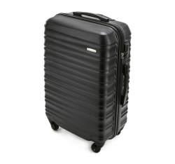 Średnia walizka z ABS-u z żebrowaniem, czarny, 56-3A-312-11, Zdjęcie 1