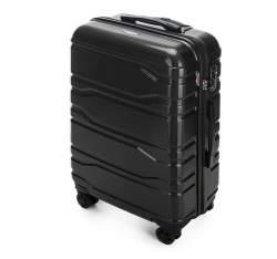 Średnia walizka z polikarbonu tłoczona, czarny, 56-3P-982-11, Zdjęcie 1
