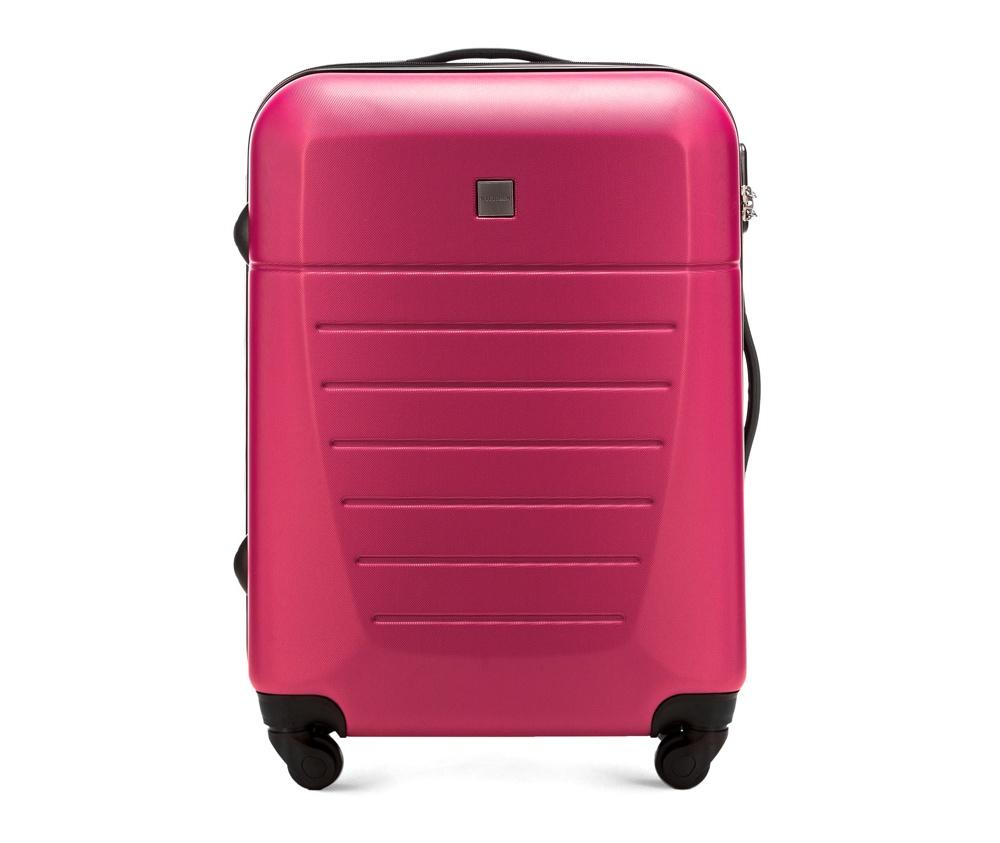 Средний чемодан 23\Средний чемодан сделан из высокопрочного и устойчивого к царапинам пластика ABS. Выдвижная ручка, главное отделение на молнии с кодовым замком TSA, разделённое на две части: одно отделение с фиксирующими ремнями для одежды, второе отделение закрывается на молнию, внутренний карман на молнии.<br><br>секс: унисекс<br>Цвет: розовый<br>материал:: ABS пластик<br>подкладка:: полиэстр<br>высота (см):: 64<br>ширина (см):: 45<br>глубина (см):: 23<br>размер:: средний<br>объем (л):: 51<br>вес (кг):: 3.3