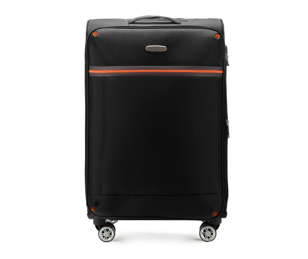 Средний чемодан 24\ Wittchen 56-3S-492-10, черныйСредний чемодан из коллекции Comfort Line сделан из высокопрочного полиэестра. Выдвижная ручка, главное отделение на молнии с кодовым замком TSA, разделённое на две части: одно отделение с фиксирующими ремнями для одежды, второе отделение закрывается на молнию, внутренний карман на молнии.<br><br>секс: унисекс<br>Цвет: черный<br>материал:: Полиэстер<br>подкладка:: полиэстр<br>высота (см):: 71<br>ширина (см):: 42<br>глубина (см):: 28<br>размер:: средний<br>объем (л):: 67<br>вес (кг):: 3,2