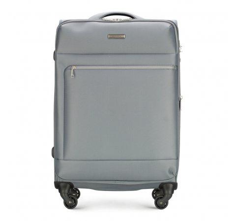 a881ed259a2f6 Średnia walizka na czterech kółkach, z poliestru | WITTCHEN | 56-3S-622