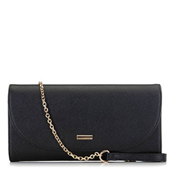 Clutch bag, black, 91-4Y-604-1, Photo 1