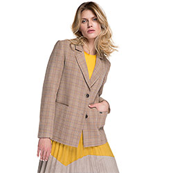 Women's blazer, beige, 86-9W-107-9-L, Photo 1