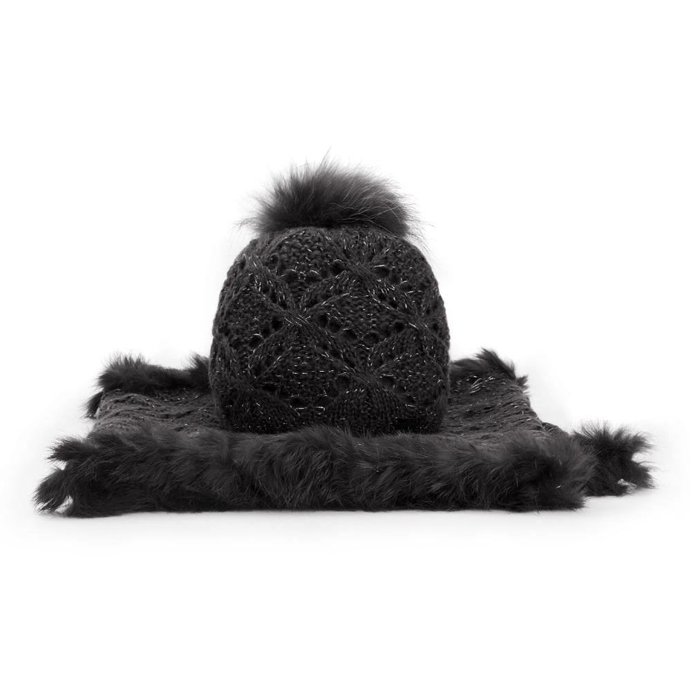 Купить Комплект шапка + шарф, WITTCHEN, Германия, черный
