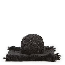 Komplet czapka + komin, czarny, 87-SF-005-1, Zdjęcie 1