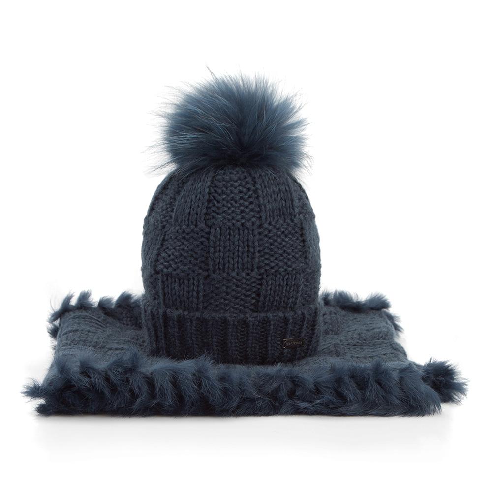 Komplet czapka + komin 87-SF-006-7