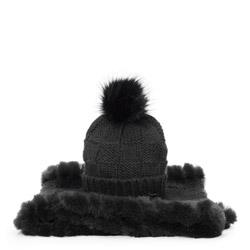 Women's winter set: snood&hat, black, 91-SF-003-1, Photo 1