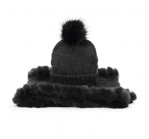 Women's winter set: snood&hat, black, 91-SF-003-7, Photo 1
