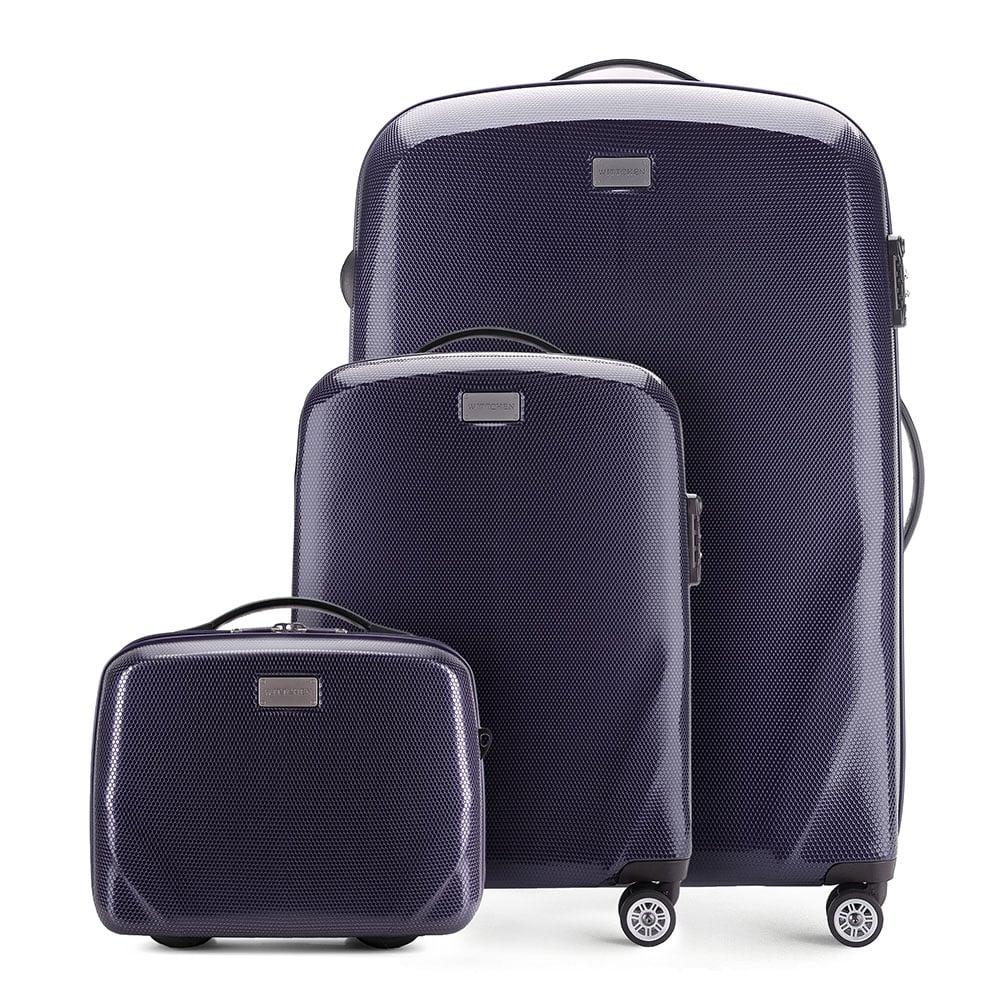 Чемодан ручная кладь + большой чемодан + косметичка фото