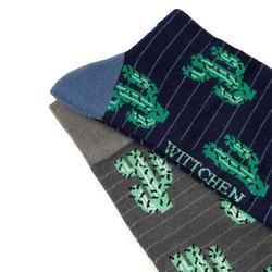 Men's socks gift set, grey-navy blue, 92-SK-007-X1-43/45, Photo 1