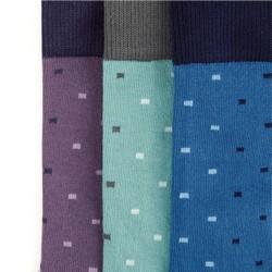 Zestaw męskich skarpetek w kolorowe prostokąty, multikolor, 92-SK-008-X1-43/45, Zdjęcie 1