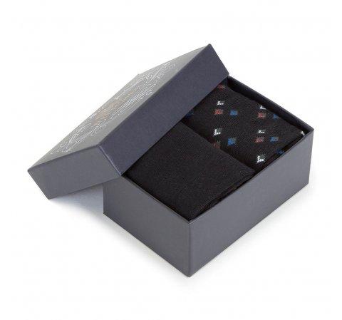 Zestaw skarpet męskich, czarny, 90-SK-004-X2-40/42, Zdjęcie 1