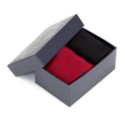 Zestaw skarpet męskich, czerwono - czarny, 90-SK-004-X3-43/45, Zdjęcie 1