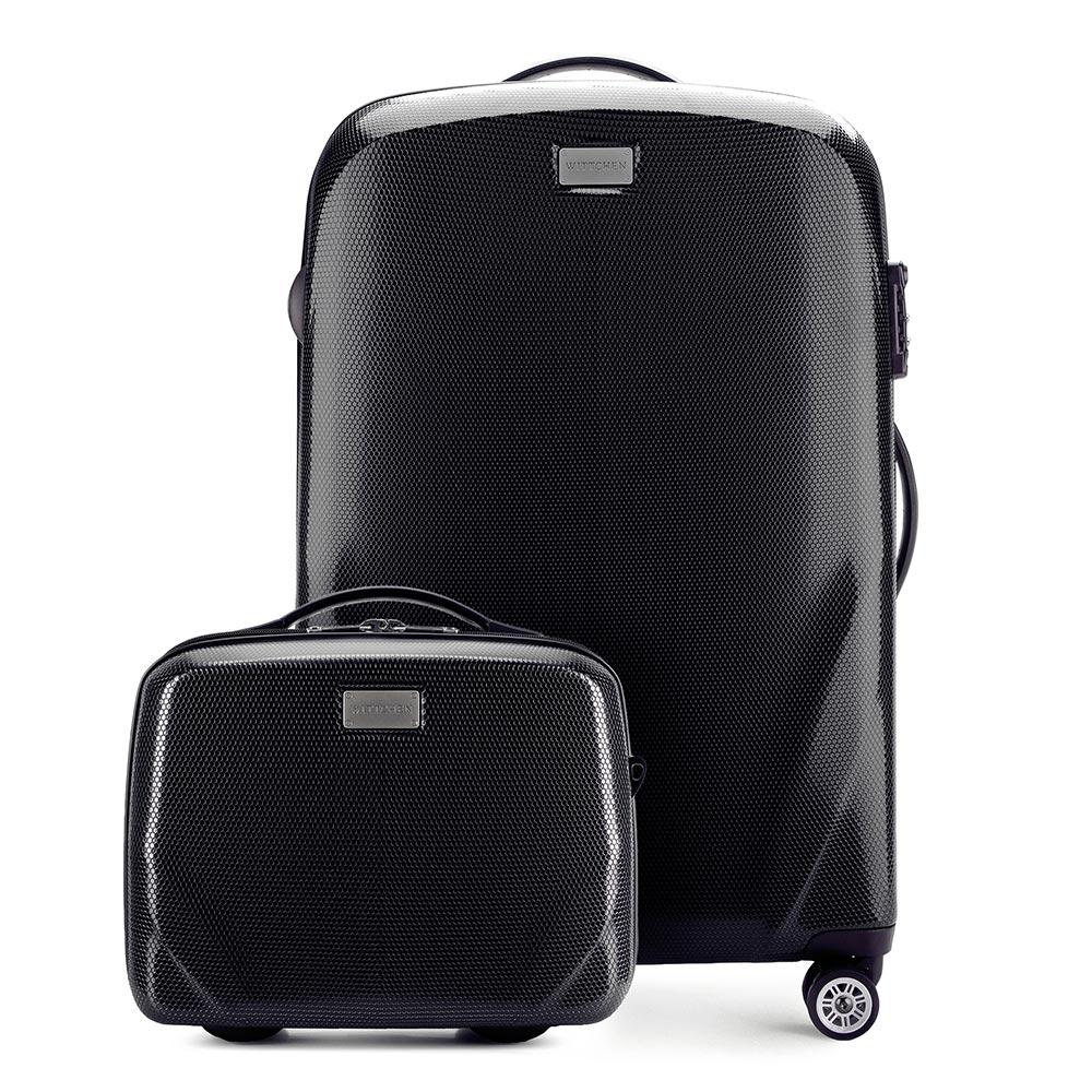 Средний чемодан + косметичка фото