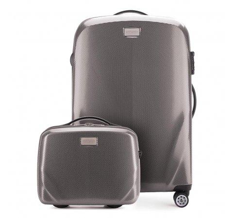 Средний чемодан + косметичка 56-3P-572_4-70