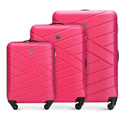 Zestaw walizek, różowy, 56-3A-30S-35, Zdjęcie 1