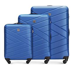 Zestaw walizek, granatowy, 56-3A-30S-90, Zdjęcie 1