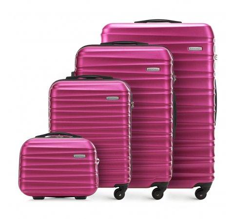 Zestaw walizek, fuksja, 56-3A-31K-33, Zdjęcie 1