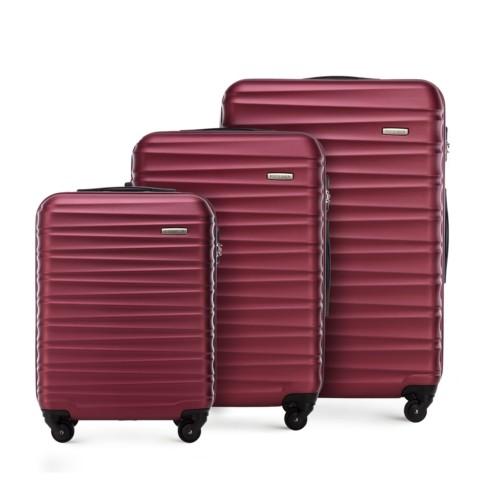 Zestaw walizek, bordowy, 56-3A-31S-11, Zdjęcie 1
