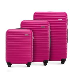 Zestaw walizek, różowy, 56-3A-31S-34, Zdjęcie 1