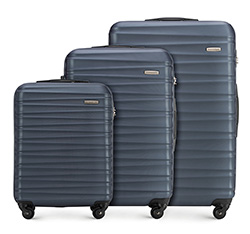 Luggage set, navy blue, 56-3A-31S-91, Photo 1