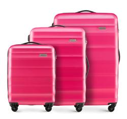 Zestaw walizek, różowy, 56-3A-35S-60, Zdjęcie 1