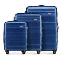 Zestaw walizek, granatowy, 56-3A-35S-90, Zdjęcie 1