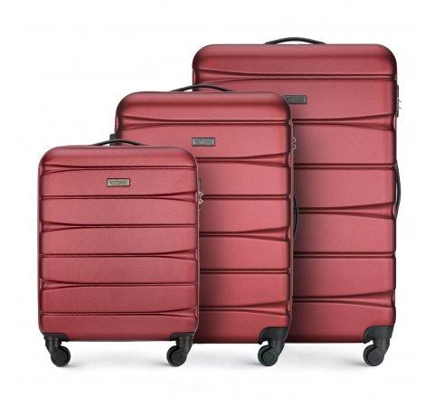 Zestaw walizek, bordowy, 56-3A-36S-36, Zdjęcie 1