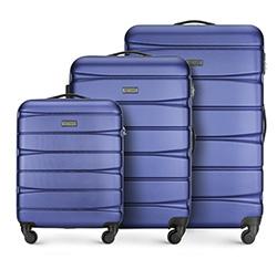 Zestaw walizek, granatowy, 56-3A-36S-91, Zdjęcie 1