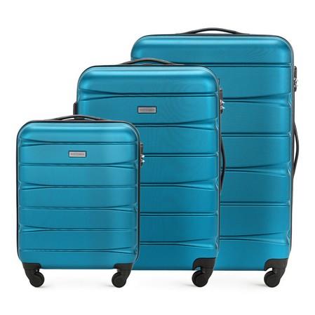 Zestaw walizek, niebieski, 56-3A-36S-95, Zdjęcie 1