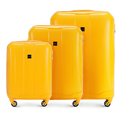 Luggage set, yellow, 56-3A-37S-50, Photo 1