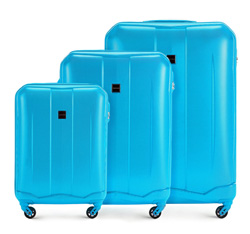 Luggage set, sky blue, 56-3A-37S-77, Photo 1