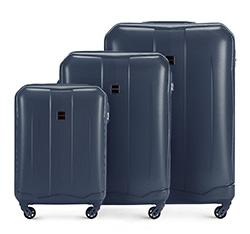 Zestaw walizek, granatowy, 56-3A-37S-90, Zdjęcie 1