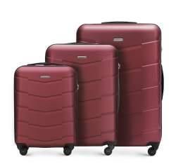 Zestaw walizek, burgund, 56-3A-40S-30, Zdjęcie 1