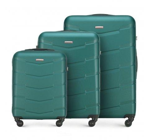 Zestaw walizek, zielony, 56-3A-40S-81, Zdjęcie 1