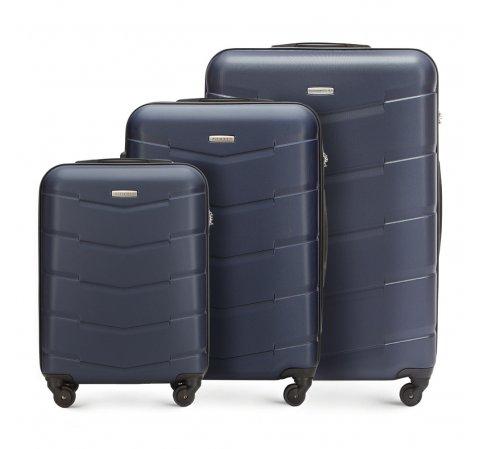 Zestaw walizek, granatowy, 56-3A-40S-90, Zdjęcie 1