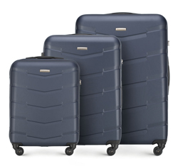 Zestaw walizek, granatowy, 56-3A-40S-91, Zdjęcie 1