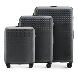Luggage set, black-red, 56-3A-41S-10, Photo 1