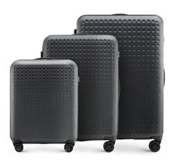 Zestaw walizek, czarno - czerwony, 56-3A-41S-10, Zdjęcie 1